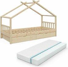 VITALISPA Kinderbett DESIGN Hausbett mit