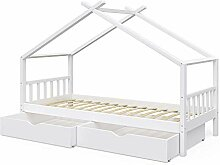 VitaliSpa Kinderbett Hausbett Design 90x200cm INKL