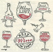 Vitas Weinglas Design 3-lagig bedruckt Papier