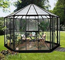 Vitavia Gewächshaus Hera aus Alu/Glas schwarz