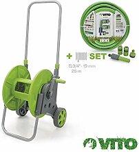 VITO Garden Schlauchwagen mit Gartenschlauch - 25