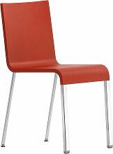 Vitra - .03 Stuhl, silber / signalrot