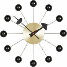 Vitra - Ball Clock, schwarz / messing