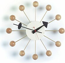 Vitra Ball Clock Wanduhr Naturell (Ø) 33 Cm