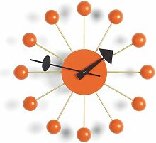 Vitra Ball Clock Wanduhr Orange (Ø) 33.00 Cm