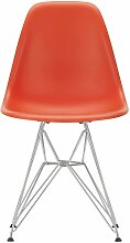 Vitra DSR Stuhl Sitzschale Rot Untergestell