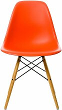 Vitra DSW Stuhl Sitzschale Rot Untergestell