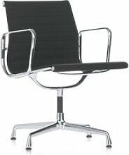 Vitra - EA 107 Stuhl poliert mit Armlehnen, Hopsak