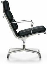 Vitra EA 216 Lounge Sessel Leder Nero (b) 62 X (t)