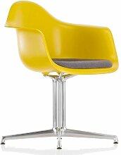 Vitra Eames DAL Stuhl Mit Sitzkissen Braun/grau