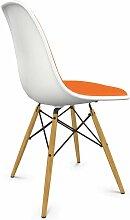 Vitra Eames DSW Stuhl Gepolstert Sitzschale Weiß