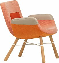 Vitra East River Chair Sessel Mit Naturel Eichenuntergestell (b) 64.00 X (t) 71.00 X (h) 74.00 Cm