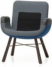 Vitra East River Chair Sessel Stoffmix Blau (b) 64