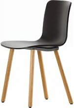Vitra - Hal Wood Stuhl, basic dark / Eiche natur,