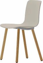Vitra - Hal Wood Stuhl, warmgrey / Eiche natur,