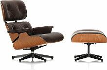 Vitra - Lounge Chair & Ottoman, poliert / Seiten