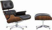 Vitra - Lounge Chair & Ottoman, verchromt,