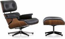Vitra - Lounge Chair & Ottomann, poliert / Seiten