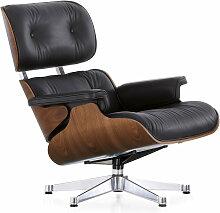 Vitra - Lounge Chair, verchromt, Nussbaum