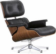 Vitra - Lounge Chair, verchromt, Nussbaum (neue