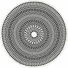 Vitra Round Geometric Tischdecke 120 Schwarz (Ø)