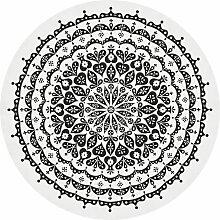 Vitra Round Lace Tischdecke 120 Schwarz (Ø) 130 Cm
