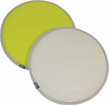Vitra - Seat Dots Sitzauflage, gelb / pastellgrün