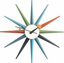 Vitra - Sunburst Clock, mehrfarbig