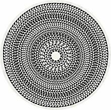 Vitra -Tischdecke Ø 170 cm Geometric, schwarz