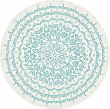 Vitra -Tischdecke Lace, grau / blau