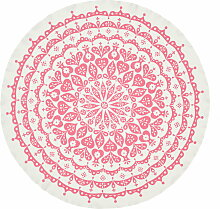 Vitra -Tischdecke Lace, grau / pink