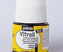 Vitrail (45ml) - 23 zitronengelb, Pébéo, Glas,
