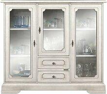 Vitrine 3 Türen mit Glas lackier