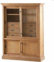 Vitrine Chantal mit 6 Schubladen und Türen, 115