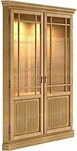 Vitrine Eckvitrine 2 Türen, Duett, Pinie massiv