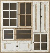 Vitrine mit 9 Türen aus weißem
