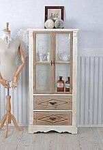 Vitrinenschrank Shabby Chic Vitrine Holzvitrine Vintage Antik Palazzo Exclusiv
