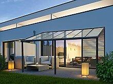 VITRO Terrassenüberdachung Aluminium 6x4m, Glas,