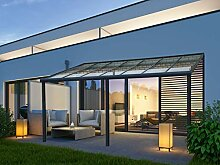 VITRO Terrassenüberdachung Echtglas Aluminium