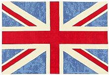 Viva ABC Teppich Ikat Cotton Uk blau 90 x 150 cm,