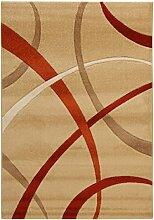 Viva ABC Teppich Terra beige/rot 120 x 170 cm