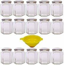 Viva Haushaltswaren - 15 x kleines Einmachglas 196