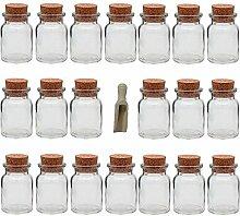 Viva Haushaltswaren - 20 x Gewürzglas 150 ml,