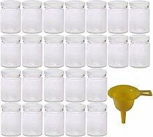 Viva Haushaltswaren - 24 x kleines Einmachglas 106