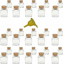 Viva Haushaltswaren - 30 x Mini Gewürzglas eckig