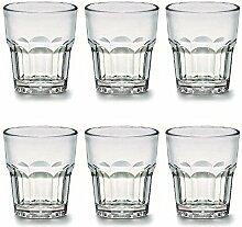 Viva Haushaltswaren - 6 x bruchfestes Whiskyglas