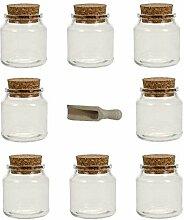 Viva Haushaltswaren - 8 x Gewürzglas 175 ml,