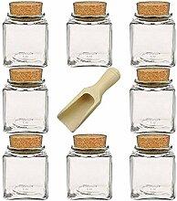 Viva Haushaltswaren - 8 x kleines Gewürzglas