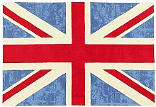 Viva Ikat Cotton ABC Teppich blau 120x180 cm,