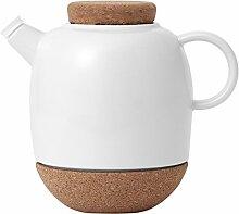 Viva Scandinavia Teekanne aus weißem Porzellan,